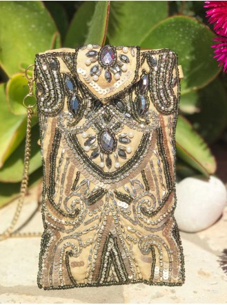 Beaded Glasses / Phone Case (Gunmetal)