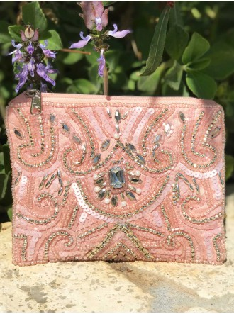 Beaded Sequin Purse (Pink)