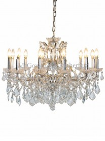 12-Branch Crystal Chandelier - Silver
