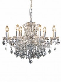 6-Branch Crystal Chandelier - Silver