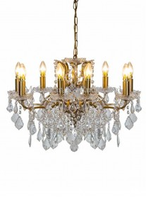 8-Branch Crystal Chandelier - Gold