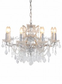 8-Branch Crystal Chandelier - Silver
