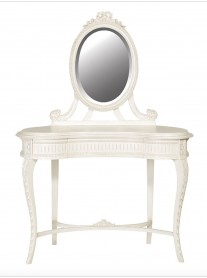 Chateau Carved Dressing Table with Mirror
