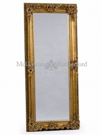 Tall Antique Mirror - Gold