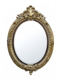 Oval Wall Mirror - Gold