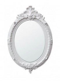 Oval Wall Mirror - White