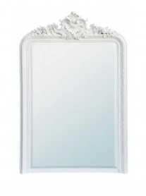 Tall Over-Mantle Mirror - White
