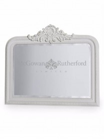 Over-Mantle Mirror - White