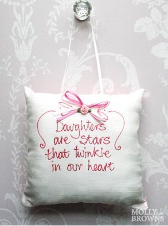 Daughters Are Stars That Twinkle in Our Hearts - Cushion