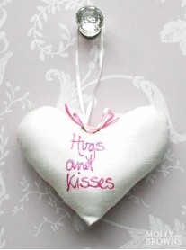 Hugs & Kisses - Small Heart Cushion