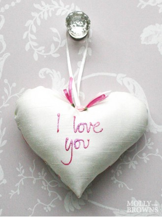 I Love You - Small Heart Cushion