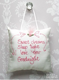 Sweet Dreams, Sleep Tight, I Love You, Goodnight - Cushion