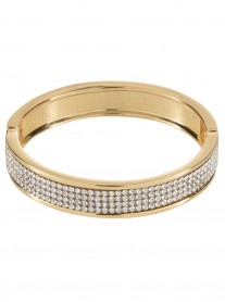 4-Row Diamante Bracelet - Gold