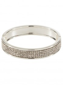 4-Row Diamante Bracelet - Silver