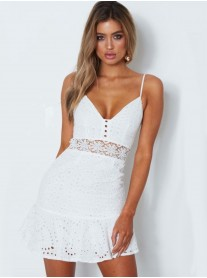 Crochet Dress - White