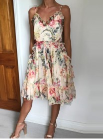 Pretty Floral Frill Dress