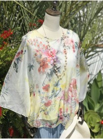Pretty Floral Top - Yellow & Pink