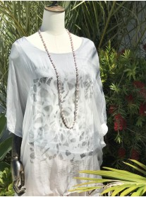 Patterned Sequin Top (White)