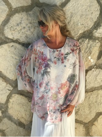 Pretty Floral Top - Pink