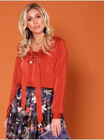 Joyce - Rust Orange Blouse