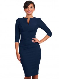 Lydia 3/4 Sleeved - Navy