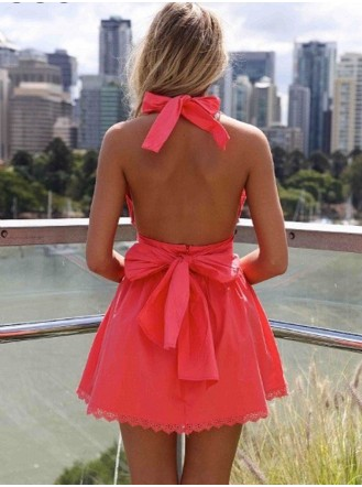 Lizzy Taylor Bow Dress - Summer Red