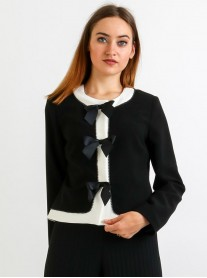 Bow Jacket - Black (Camelot)
