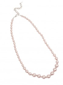 Classic Graduated Pearl Necklace - Powder Pink
