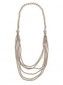 Magnetic Multi-Way Pearl Necklace - Latte