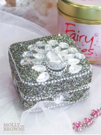 Crystal & Glitter Trinket Box - Square