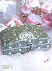 Glitter & Crystal Embellished Jewellery Box - Large