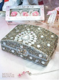Glitter & Crystal Embellished Jewellery Box - Medium