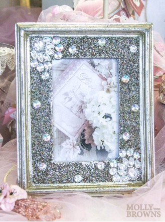 Silver Diamante Embellished Photo Frame 4x6