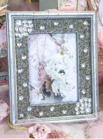 Silver Diamante Embellished Photo Frame 5x7