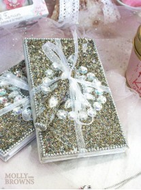 Silver Glitter Notebook & Pen