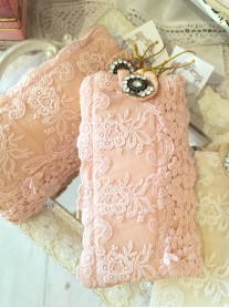 Pink Lace Glasses Case
