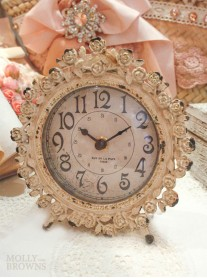 Cream Ornate Clock
