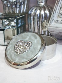 Diamante Heart Trinket Box