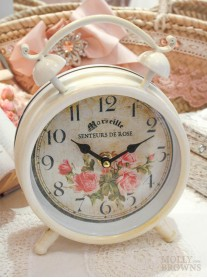 Shabby Chic Floral Clock