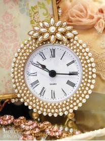 Gold Pearl Clock