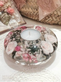 Pink Rose Tea Light Holder (Large)