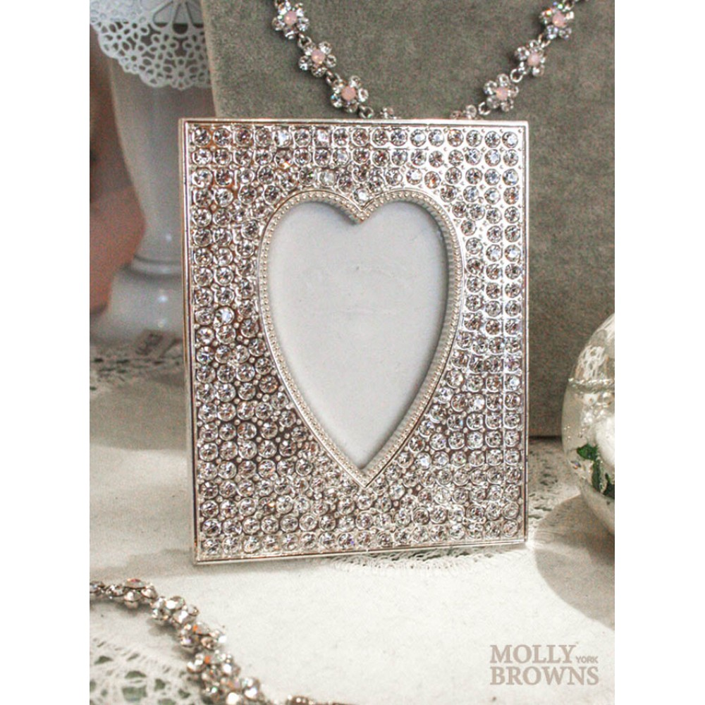 Diamante Heart Shape Picture Frame (2x3) - Picture Frames by Molly ...