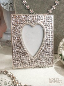 Diamante Heart Picture Frame (2x3)