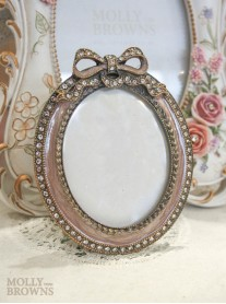 Pale Pink Bow Picture Frame