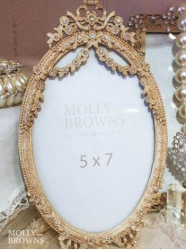 Antique Cream Oval Picture Frame 6 x 4