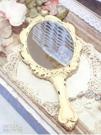 Cream Handheld Mirror