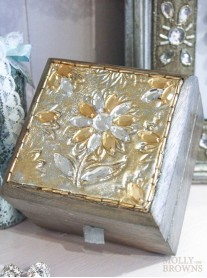 Distressed Silver & Gold Jewellery Box
