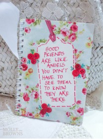 Floral Notebook - Good Friends