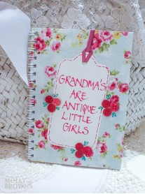 Floral Notebook - Grandma