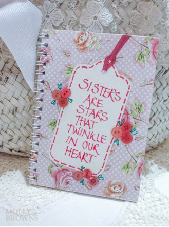 Floral Notebook - Sister